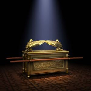 The ark of the covenant was considered a sacred item of great power amongst the Israelites. It's normal place was in the Temple, behind a veil, in the Holy of Holies